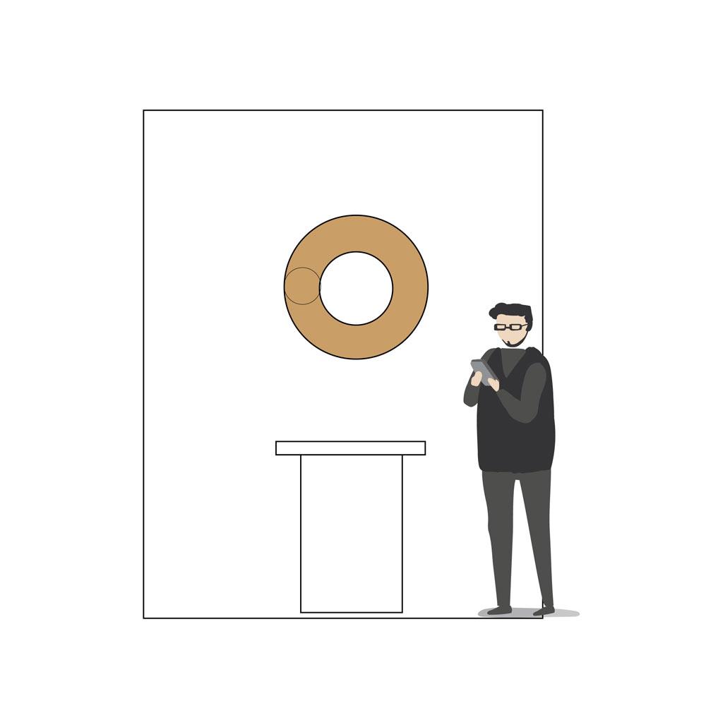 Entwurf eines Ringförmigen Objektes für das Foyer