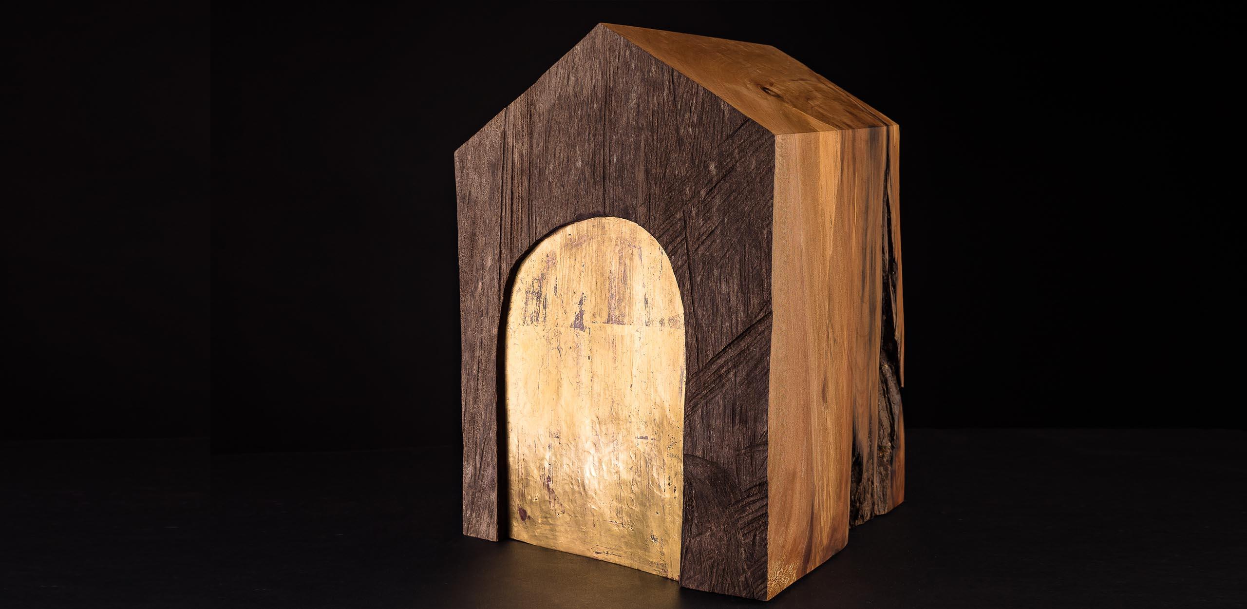 Urne aus Platanenholz