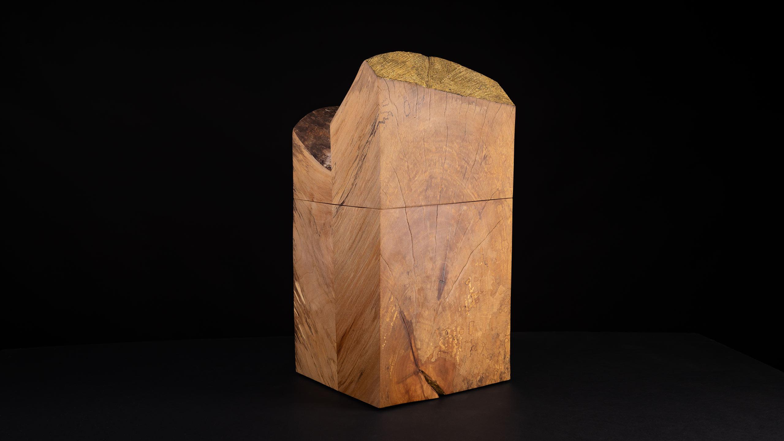 Designurne aus Platanenholz