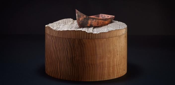 Memorial Box ; Ashwood / copper