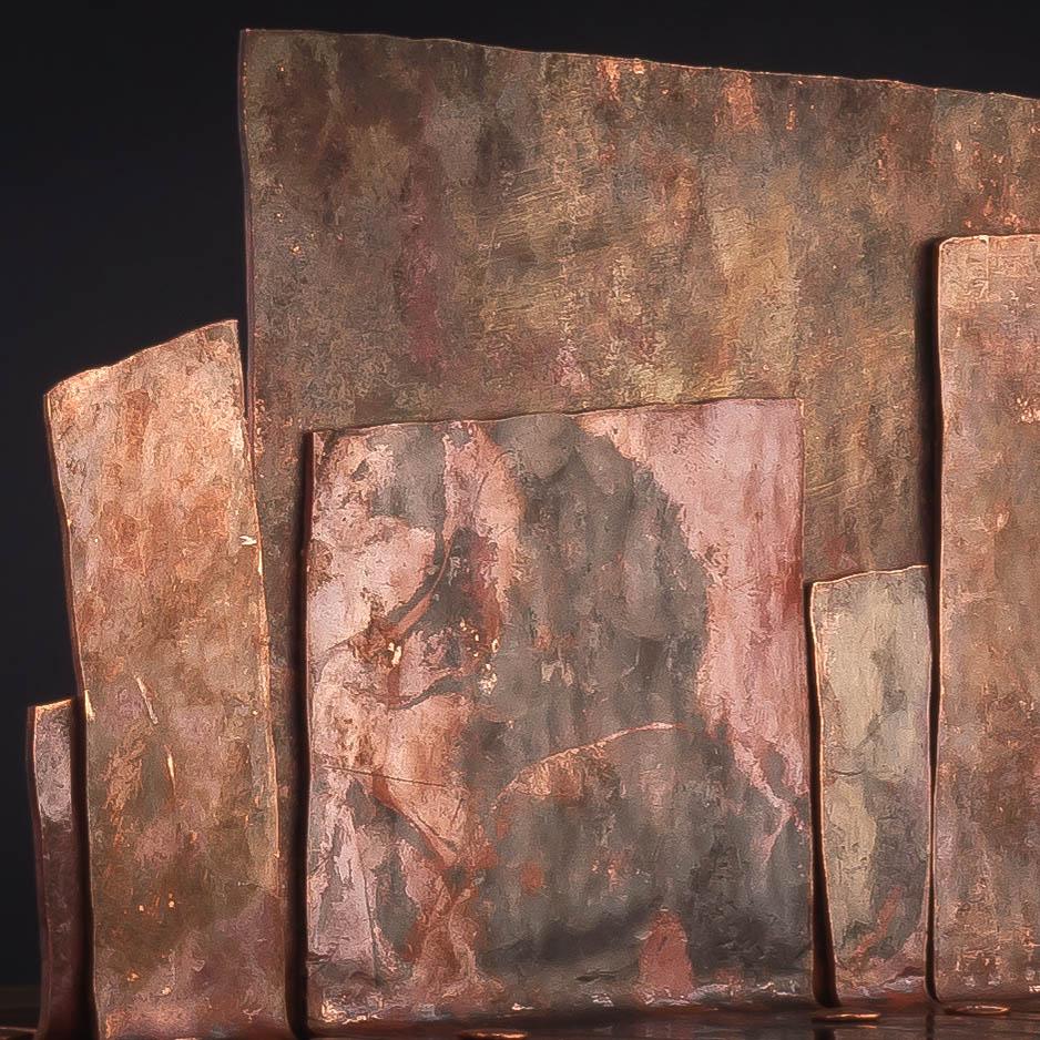 Eine Dose für Schmuck und Erinnerungsstücke ; Walnut / copper